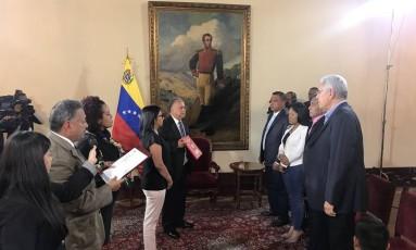 Governadores da Ação Democrática prestam juramento na Assembleia Nacional Constituinte, Venezuela Foto: Assembleia Nacional Constituinte/Divulgação