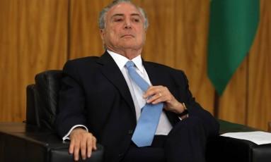 O presidente Michel Temer Foto: Givaldo Barbosa / Agência O Globo 23/10/2017