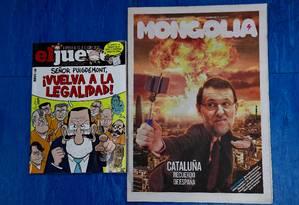 Meios satíricos de comunicação ironizam dificuldade do governo Rajoy de lidar com o secessionismo catalão Foto: PIERRE-PHILIPPE MARCOU / AFP