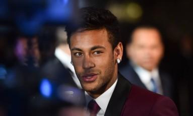Neymar na cerimônia de gala da Fifa, em Londres Foto: GLYN KIRK / AFP