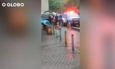 Vídeo mostra turistas após tiros da polícia Foto: Reprodução