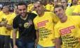 Julio Brant (à esquerda) tem o apoio de ex-jogadores como Felipe e Pedrinho Foto: Divulgação
