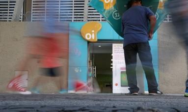 Crise da empresa de telecomunicações Oi. Foto Custódio Coimbra/Agência O Globo