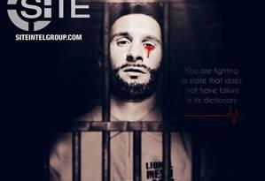 Estado Islâmico ameaça Copa do Mundo com pôster de Messi chorando sangue Foto: Site Intelligence group