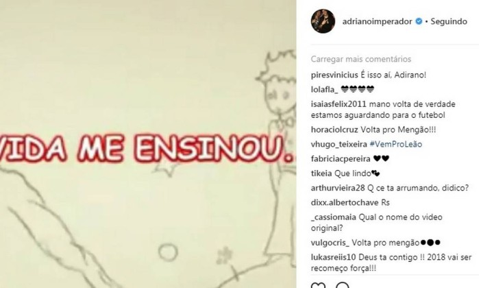 São Bento descarta interesse em Adriano para temporada de 2018