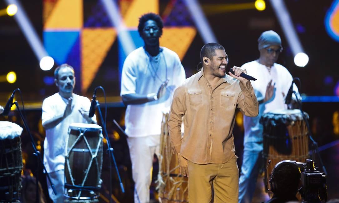 O rapper Criolo solta a voz Foto: Barbara Lopes / Agência O Globo