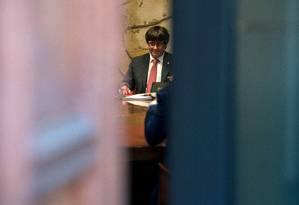 Presidente do governo da Catalunha sofre pressão de aliados e de Madri Foto: JOSEP LAGO / AFP