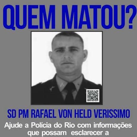 Página do Disque-Denúncia oferece recompensa por informações sobre a morte do policial Foto: Reprodução