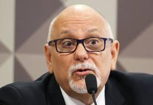 Oitiva do ex-presidente da Caixa Econômica federal, Jorge Hereda, na CPI da JBS Foto: Ailton de Freitas/Agência O Globo