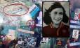 Adesivos com a imagem de Anne Frank com a camisa do clube Roma, rival do Lazio, foram encontrados em estádio da capital italiana