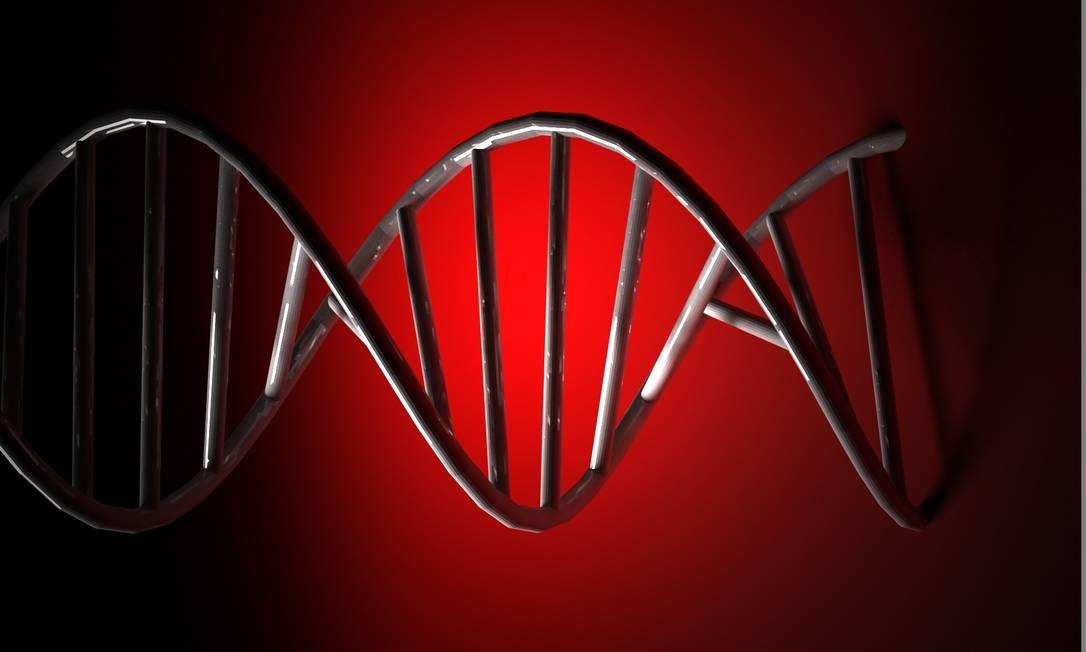 A estrutura de dupla hélice do DNA: alteração molecular Foto: / StockPhoto