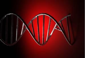 A estrutura de dupla hélice do DNA: alteração molecular Foto: StockPhoto