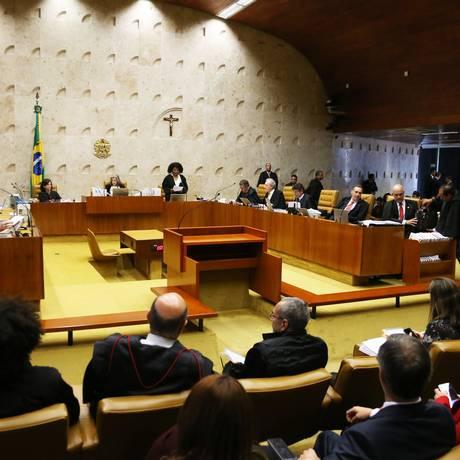 Plenário do Supremo Tribunal Federal Foto: Givaldo Barbosa / Agência O Globo