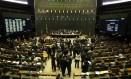 Plenário da Câmara dos Deputados durante a votação da segunda denúncia contra Temer Foto: Ailton de Freitas / Agência O Globo