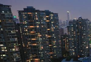 Vista aérea de Xangai, na China Foto: Aly Song / Reuters