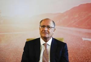 O governador de São Paulo, Geraldo Alckmin Foto: Edilson Dantas / Agência O Globo/26-10-17