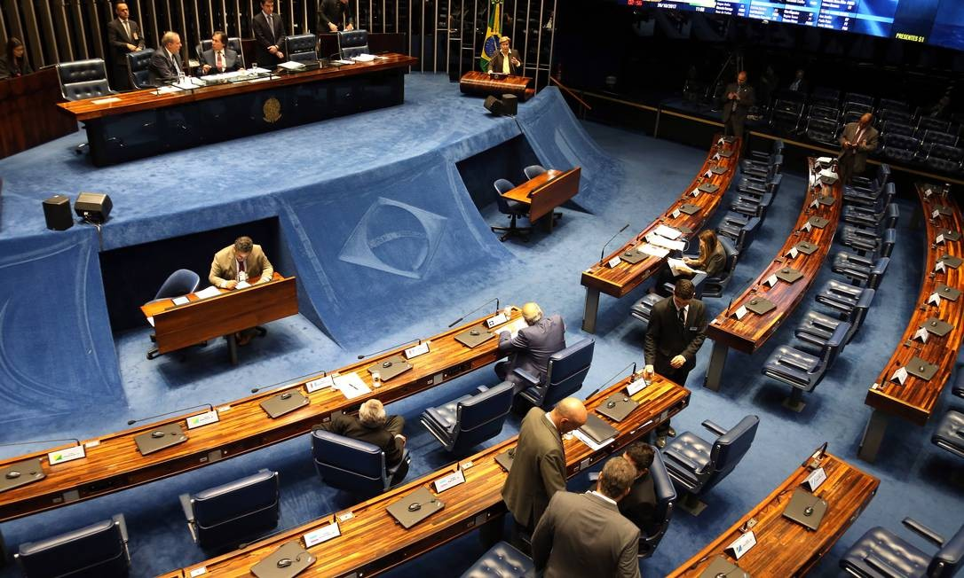 O plenário do Senado: parlamentares aprovaram projeto por unanimidade Foto: Givaldo Barbosa