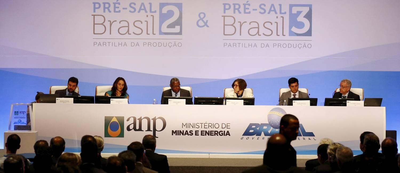 Leilão do pré-sal Foto: Pablo Jacob / Agência O Globo