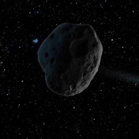 Ilustração de um asteroide nas cercanias de Júpiter no Sistema Solar: objeto descoberta tem velocidade e trajetória incomuns Foto: NASA/JPL-Caltech