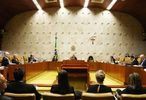 Sessão do Supremo Tribunal Federal Foto: Givaldo Barbosa / Agência O Globo