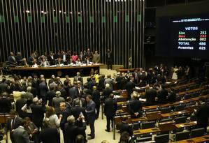 Câmara dos Deputados rejeitou duas denúncia contra o presidente Temer Foto: Ailton de Freitas / Agência O Globo/25-10-17