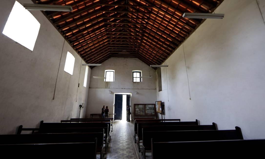 Igreja é o único prédio da Fazenda São Bento, hoje tombada, que ainda funciona Gustavo Miranda / Agência O Globo