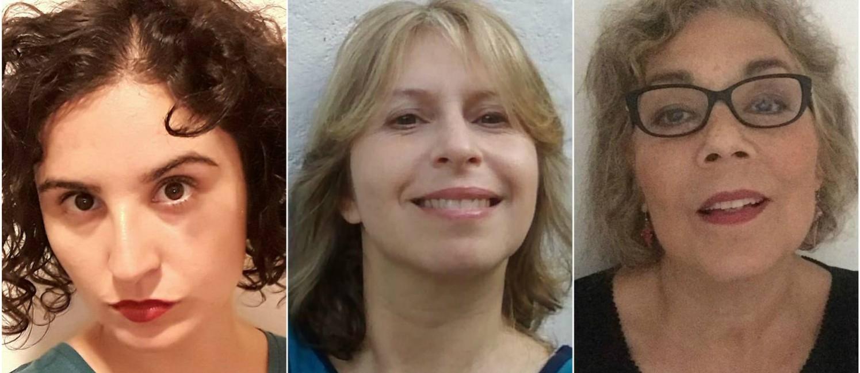 Da esquerda para direita: Simone Campos, Luciana Hidalgo e Lúcia Bettencourt Foto: Divulgação / Agência O GLOBO