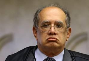 Ministro do Supremo foi alvo de protetso inusitado Foto: Jorge William / Agência O Globo