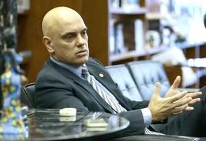 Ministro Alexandre de Moraes, do Supremo Tribunal Federal Foto: Jorge William / Agência O Globo