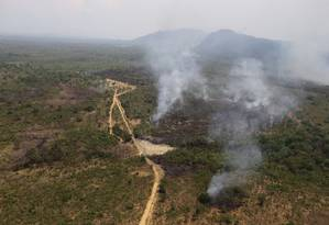 Focos de incêndio destruíram 25% da área da Chapada dos Veadeiros Foto: Jorge William / Agência O Globo