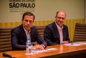 O prefeito João Doria e o governador Geraldo Alckmin Foto: Divulgação 04/01/2017