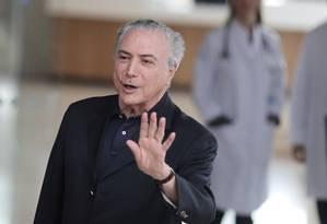 Presidente Michel Temer deixa o hospital Sírio-Libanês, em São Paulo Foto: Reuters
