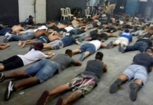 Torcedores do Vasco foram presos sábado Foto: Divulgação
