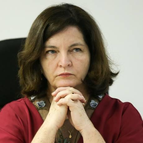 A procuradora-geral da República, Raquel Dodge, em seminário na Escola Superior do Ministério Público Foto: Marcel Camargo/Agência Brasil
