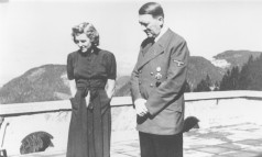 Ditador alemão Adolf Hitler ao lado da sua amante, Eva Braun Foto: