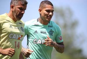 Guerrero será ausência mais uma vez Foto: Gilvan de Souza/Flamengo