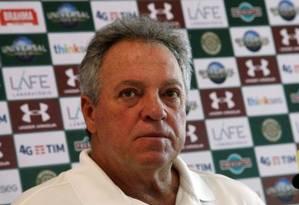 Abel concedeu entrevista coletiva Foto: Nelson Perez / Fluminense