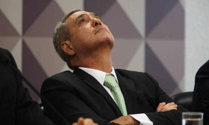 O diretor financeiro da JBS Ricardo Saud, durante depoimento à CPI da JBS Foto: Givaldo Barbosa / O Globo
