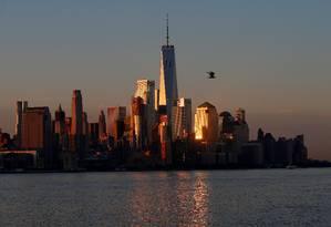 Lower Manhattan é vista de Nova Jérsei Foto: Mike Segar / REUTERS