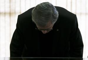 Reflexo. O ministro durante cerimônia em Brasília: deputados federais querem convocá-lo para depor na Câmara Foto: Michel Filho / Agência O Globo