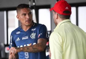 Guerrero tem sido desfalque recorrente no rubro-negro Foto: Gilvan de Souza/Flamengo