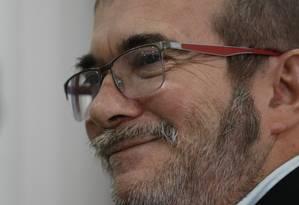 Rodrigo Londoño, ex-líder das Forças Armadas Revolucionárias da Colômbia, é conhecido como Timoncheko Foto: Fernando Vergara / AP