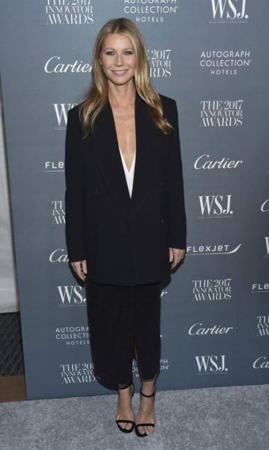 Alguém tem dúvidas de que o preto era o dress code oficial? Na foto, Gwyneth Paltrow Evan Agostini / Evan Agostini/Invision/AP