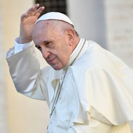 Papa Francisco já havia levantado a discussão sobre a mudançana disciplina do celibato Foto: ANDREAS SOLARO / AFP