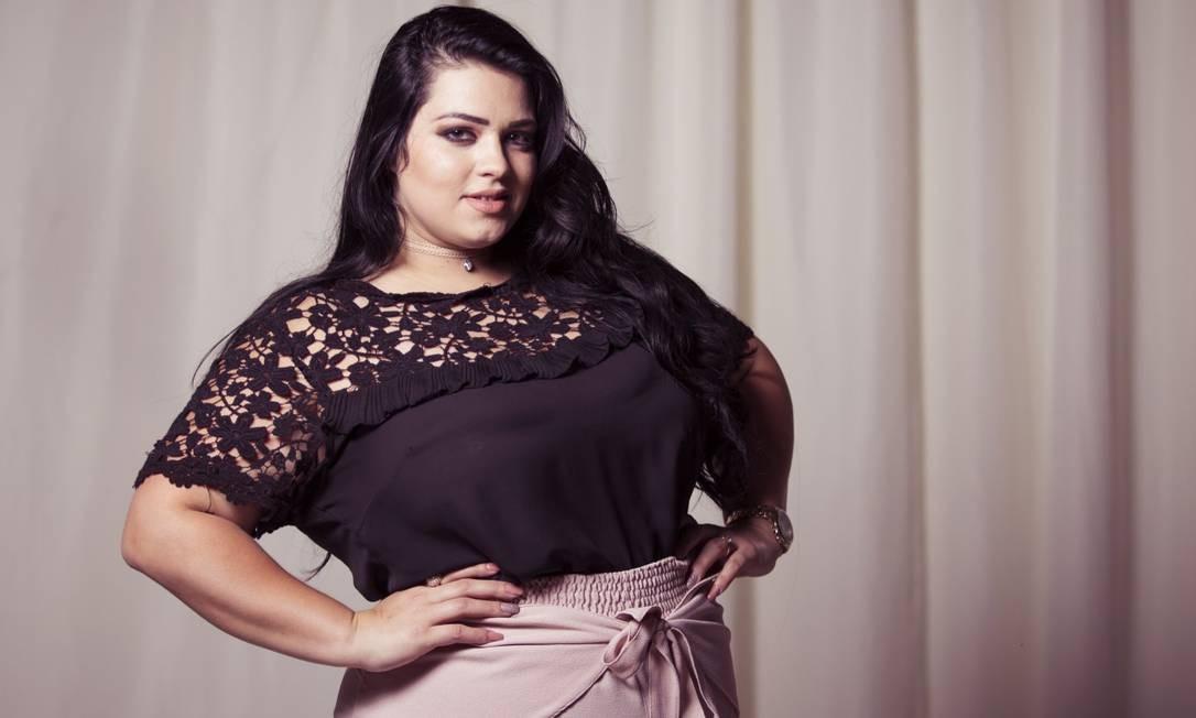 Pammela Felice: 26 anos, 1,67m de altura, 103 quilos e manequim 48 Leo Martins / Agência O Globo