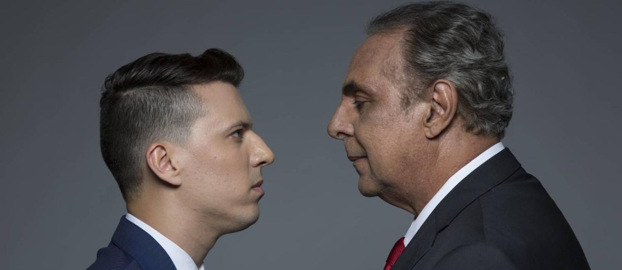 Felipe Cabral e Anselmo Vasconcellos: conflito de gerações na peça Foto: Leonardo Aversa / Leonardo Aversa