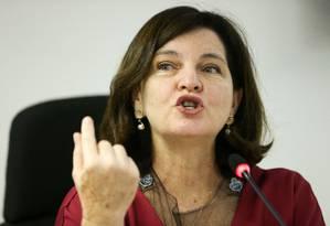 Procuradora Geral da República, Raquel Dodge Foto: Marcelo Camargo/Agência Brasil / Agência O Globo