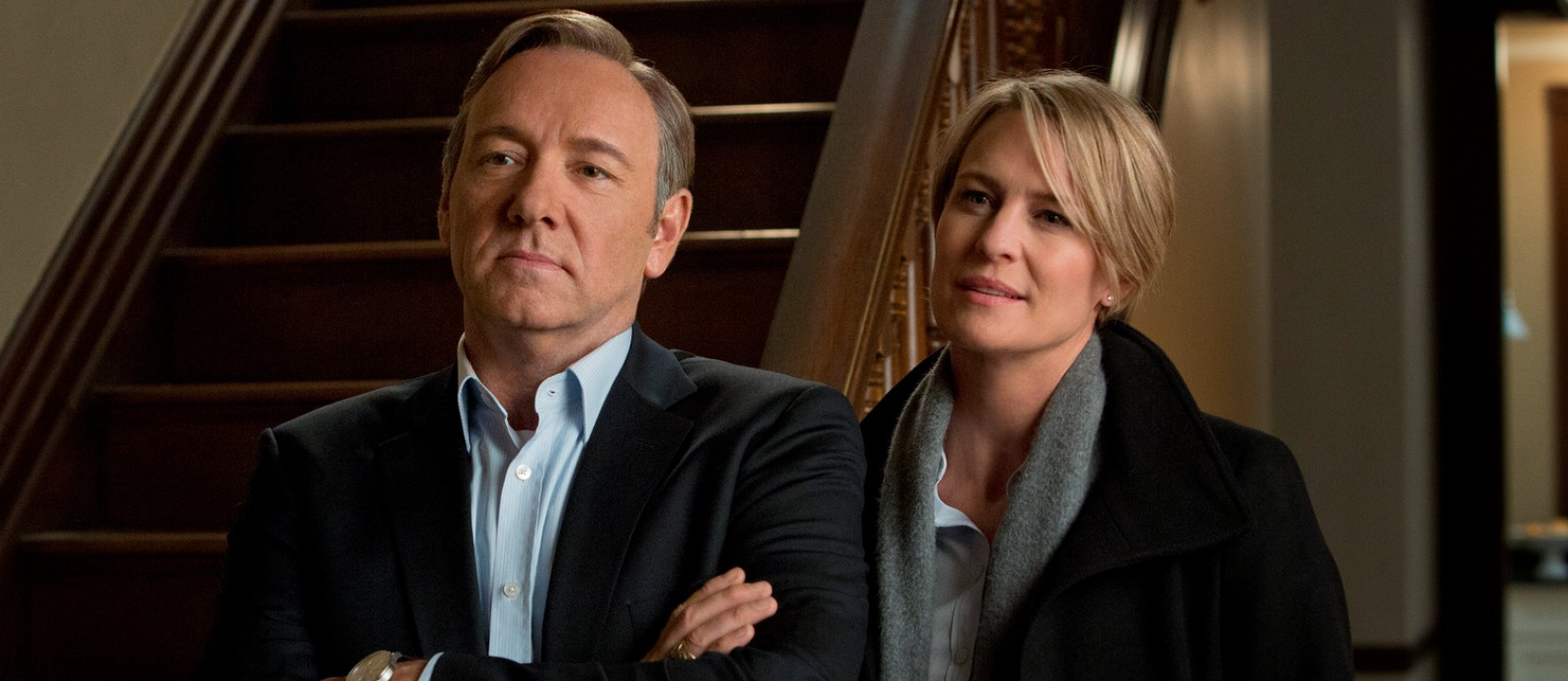 Kevin Spacey como Frank Underwood e Robin Wright como Claire na primeira temporada de 'House of cards' Foto: Divulgação