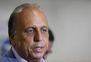 O governador do Rio de Janeiro, Luiz Fernando Pezão Foto: Roberto Moreyra / Agência O Globo