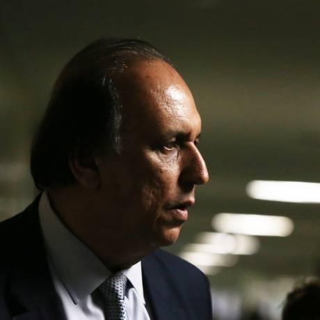 O governador do estado do Rio, Luiz Fernando Pezão, na Câmara dos Deputados Foto: Givaldo Barbosa / Agência O Globo